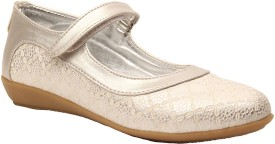 Foot Candy Girls Velcro Dancing Shoes(Silver)