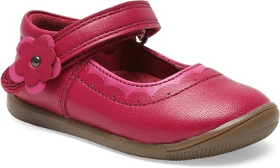 Teddy Toes Girls Velcro Clogs(Pink)