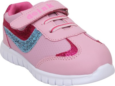 Doink Girls Velcro Casual Boots(Pink)