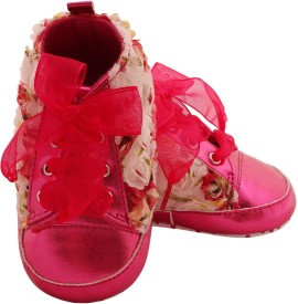 Pikaboo Girls Velcro Casual Boots(Pink)