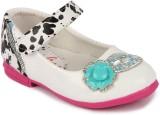 N Five Girls Velcro Dancing Shoes (White...