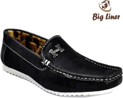Big Liner Boys Black Loafers(Pack of 1)