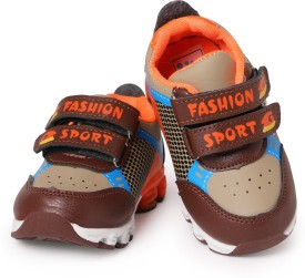 N Five Boys & Girls Velcro Casual Boots(Brown)