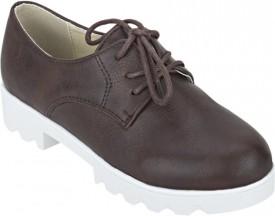 Joy N Fun Girls Lace Casual Boots(Brown)