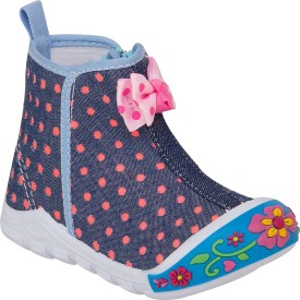77 seventy seven Girls Velcro Walking Shoes(Multicolor)