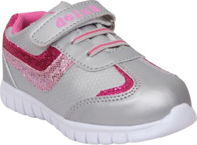 Doink Girls Velcro Casual Boots(Silver)
