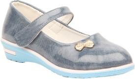 Foot Candy Girls Velcro Dancing Shoes(Blue)