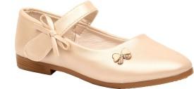 Foot Candy Girls Velcro Dancing Shoes(Beige)