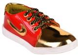 Trilokani Boys Lace Sneakers (Red)