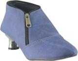 Faith Girls Velcro Casual Boots (Blue)