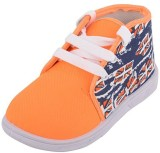 GreenBazar Boys Lace Sneakers (Orange)