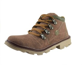 Parv Collections Boys Lace Casual Boots(Brown)