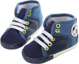 abdc kids Boys Lace Casual Boots(Blue)