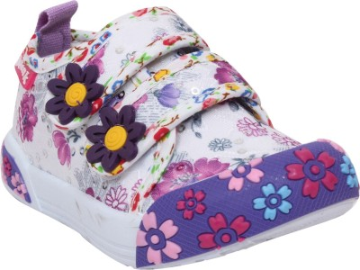 Doink Girls Velcro Casual Boots(Purple)
