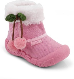 Kittens Girls Slip on Casual Boots(Pink)