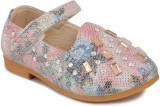 N Five Girls Velcro Dancing Shoes (Pink)