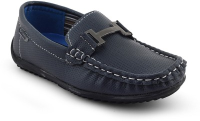 Kittens Boys Dark Blue Loafers(Pack of 1)