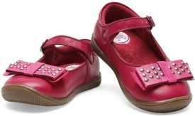 Teddy Toes Girls Strap Dancing Shoes(Pink)