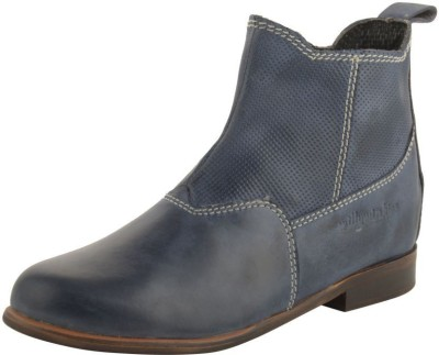Willywinkies Boys & Girls Slip on Casual Boots(Blue)