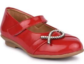N'Lite Girls Slip on Moccasins(Red)