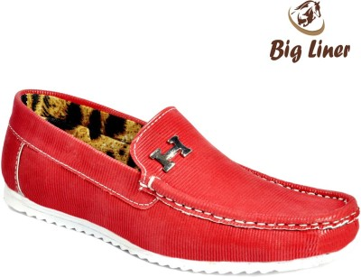 Big Liner Boys Red Loafers(Pack of 1)