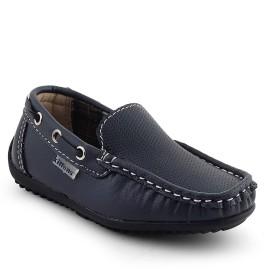 Kittens Boys Slip on Loafers(Dark Blue)