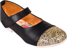 Trilokani Girls Strap Sneakers(Black)