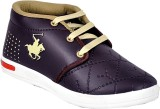 GOODLAY Boys Lace Sneakers (Brown)