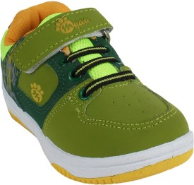 Myau Boys Strap Walking Shoes(Green)