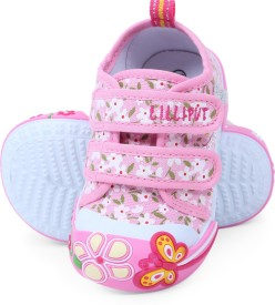 Lilliput Girls Velcro Sneakers(Pink)