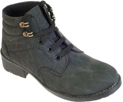 Khadims Boys Lace Casual Boots(Black)