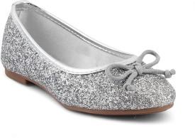 Kittens Girls Slip on Espadrilles(Silver)