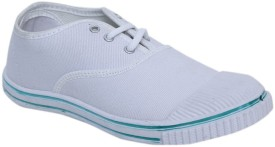 Xpert Boys Lace Running Shoes(White)