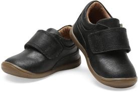 Teddy Toes Boys Velcro Moccasins(Black)