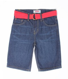Levi's Short For Boys Casual Solid Cotton(Blue, Pack of 1)
