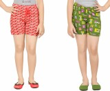 Red Ring Short For Girls Casual Printed ...