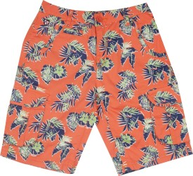 Us Polo Kids Short For Boys Casual Printed Cotton(Orange)