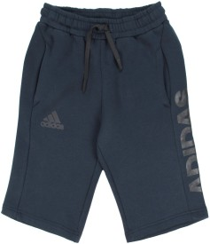 Adidas Short For Boys Sports Solid Cotton Polyester Blend(Dark Blue, Pack of 1)