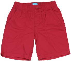 The Children's Place Short For Boys Casual Solid Cotton(Red)