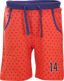 Blue Giraffe Short For Boys Casual Self Design Cotton(Orange, Pack of 1)