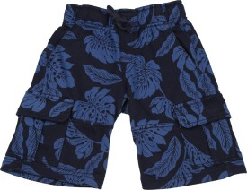 Gymboree Short For Boys Casual Floral Print Cotton(Dark Blue, Pack of 1)