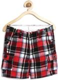 Yk Short For Boys Casual Checkered Cotto...