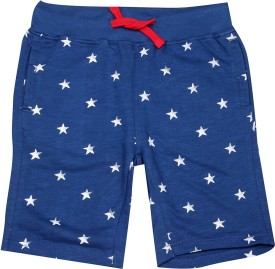Us Polo Kids Short For Boys Casual Printed Cotton(Dark Blue, Pack of 1)