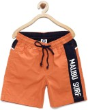 Yk Short For Boys Casual Solid Cotton (O...