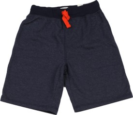 The Children's Place Short For Boys Casual Solid Cotton Polyester Blend(Grey)