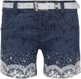 Jazzup Short For Girls Cotton Linen Blen...