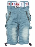 Punkster Short For Boys Casual Solid Cot...