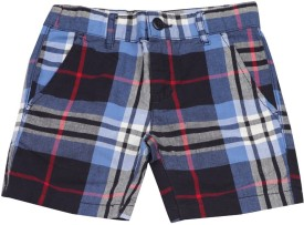 The Children's Place Short For Boys Casual Checkered Cotton(Blue)