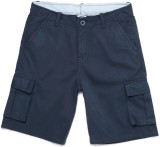 Yk Short For Boys Casual Solid Cotton (D...