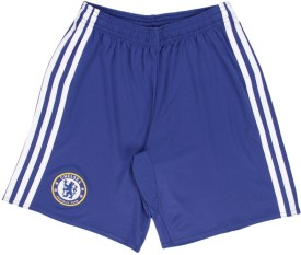 Adidas Short For Boys Sports Solid Polyester(Blue, Pack of 1)